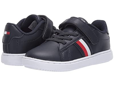 Tommy Hilfiger Kids Iconic Court 2.0 PS (Toddler) (Navy Smooth) Kid