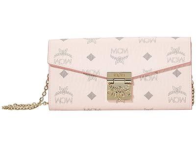MCM Patricia Visetos Flap Wallet/Two-Fold Large (Powder Pink) Bags