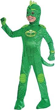 Amscan - Disfraz PJ Mask Gekko Luxe - Talla para 7-8 años - Multicolor - Modelo n. 7AM9902970