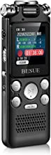 Digital Voice Recorder - 16GB Voice Activated Recorder with Playback USB Rechargeable, Noise Cancelling Audio Recorder for...