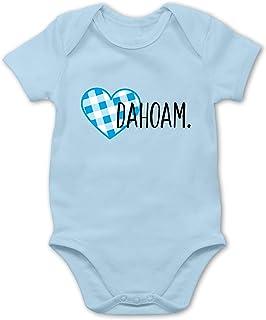 Bazi Shirts Bayern Babys - Dahoam. Blaues Herz - Baby Body Strampler