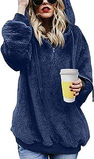 Tuopuda Felpe con Cappuccio Donna Felp Donna Sweatshirt Maglione Oversize Pullover Felpa per Donna Felpe Tumblr Ragazza In...
