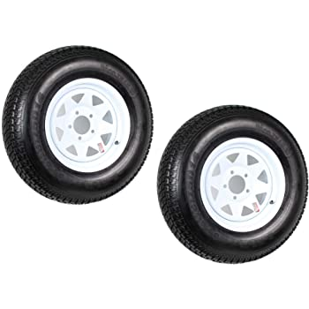 2-Pack Trailer Rim Wheel 14X5.5 J 5-4.5 White Spoke 2200 Lb 3.19 CB 75PSI