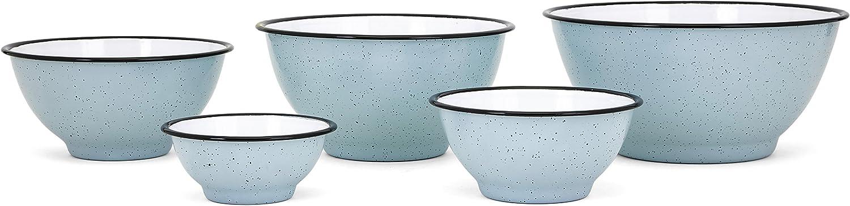 Imax TY Trisha Yearwood Home 15104-5 Set of 5 Songbird Enamel Bowls