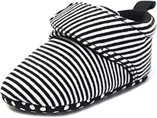 QGAKAGO Baby Girls Boys Fleece Booties - Cotton Lining and Soft Sole Shoes