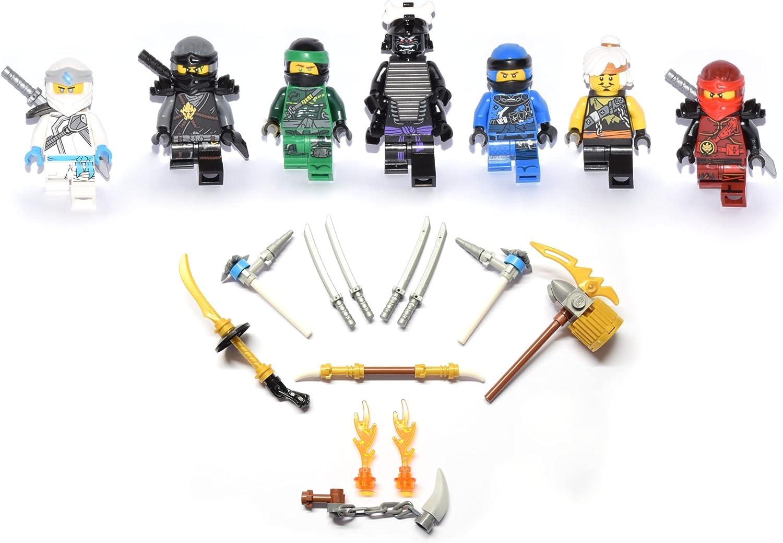 LEGO Ninjago Figures Set of 7 The Battle Against Garmadon with Jay - Kai -  Cole - Lloyd - Master WU: Amazon.de: Toys & Games
