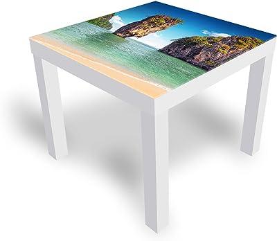Dimensioni Tavolino Lack Ikea.Tavolino Da Salotto Con Piano In Vetro Varie Misure Dekoglas Ikea