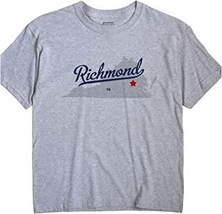 Richmond Virginia VA MAP GreatCitees Unisex Souvenir T Shirt
