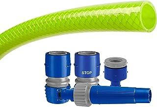 Tatay Kit Manguera Green Line, Rollo de 20 m, Reforzada, Flexible, Libre de cadmio y de BpA, y Equipada con Kit Completo d...