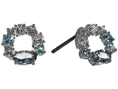 Swarovski Attract Circle Stud Pierced Earrings (Blue) Earring