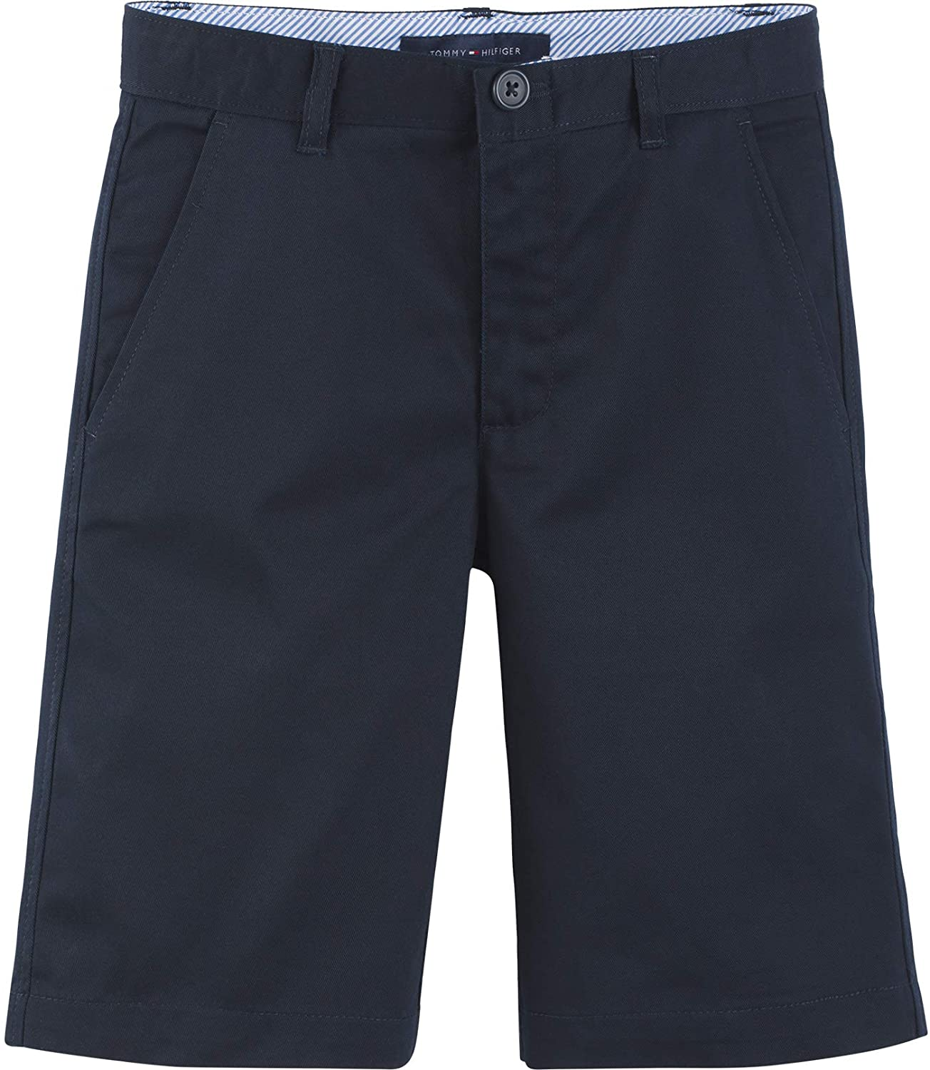 Tommy Hilfiger Flat Front Twill Blend Unifor New Free Shipping School Year-end annual account Shorts Kids