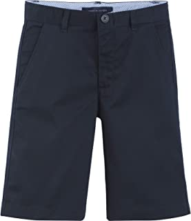 Tommy Hilfiger Flat Front Twill Blend Boys Shorts Slim, Kids School Uniform Clothes