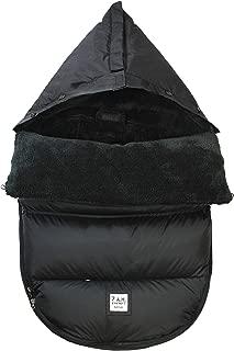 7 A.M. Enfant LambPod Stroller and Car Seat Footmuff, Convertible into a Single Panel Cover (Black Plush, Small/Medium)