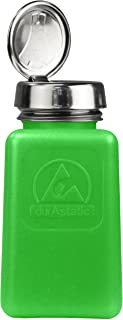 Menda - MDA-5288 35273 One Touch Liquid Dispenser Pump Bottle, ESD Safe, 6 oz. Dissipative, HDPE/Stainless Steel, Green