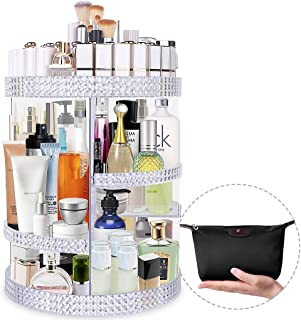 Famitree Makeup Organizer 360 Degree Rotating Acrylic Perfume Organizer, Adjustable Makeup Storage,7 Layers Large Capacity Cosmetic Storage Display Case for Vanity and Bathroom - Plus Size