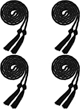 Bcpress 4 Pieces Yarn Honor Cord Graduation Cords with Tassel for Graduation Students (Black)