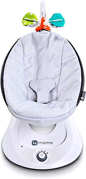 4moms RockaRoo Compact Baby Swing Baby Rocker With Front To Back Gliding Motion Classic Nylon Fabric From The Makers Of The MamaRoo
