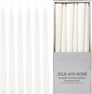 Unscented Taper Candles for Home – 10 Inch Tall Clean Burning Candlesticks | Perfect for Weddings, Parties, Home Décor | W...