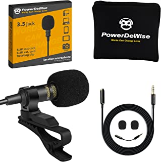 Professional Grade Lavalier Lapel Microphone Omnidirectional Mic with Easy Clip On System Perfect for Recording Youtube / ...