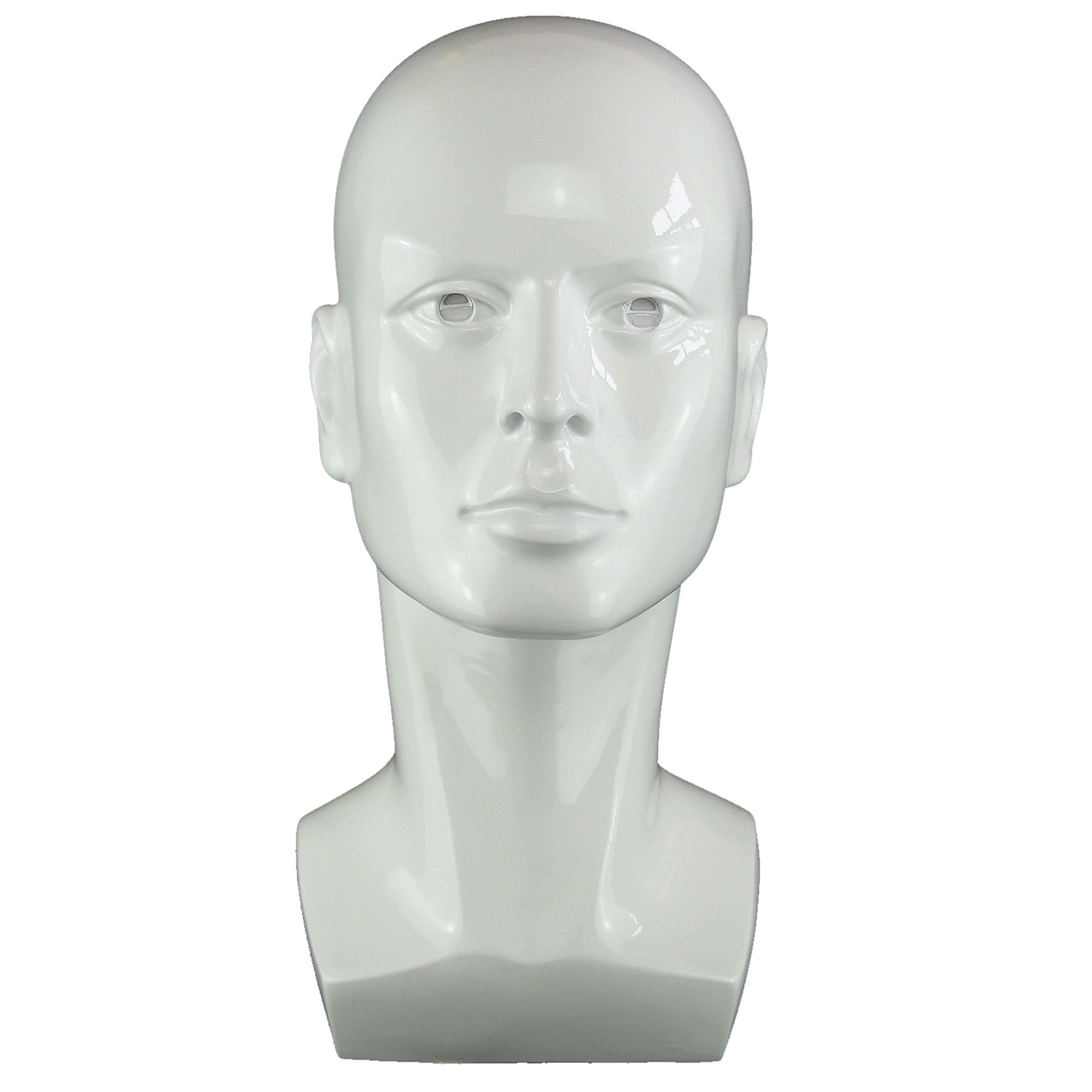 """50013 15/"""" Tall Male Mannequin Head Durable Plastic Grey"""