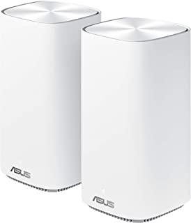 AUSUS Zenwifi Mini CD6 AC1500 Whole-Home Mesh WiFi System - Coverage up to 5,000 Sq. ft. / 5+ Rooms, Life-Time Free Networ...