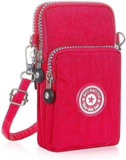 مينج شو حقيبة للنساء-احمر وردي - حقائب طويلة تمر بالجسم