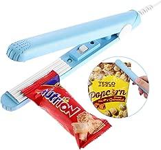 MISSALIS Food Bag Heat Sealer, Mini Sealing Machine Handheld for Airtight Food Storage Saver, Reseal Potato Chip Snack Bags, Household Appliances, Heat Seals for Kitchen (Blue)