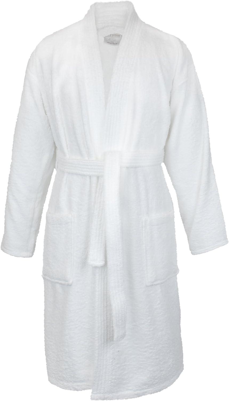 BC BARE COTTON 100% Turkish Cotton Women Terry Kimono Robe, Medium, White