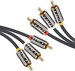 J&D Chapado en Oro 3 RCA Macho a 3 RCA Macho Cable de Audio Estéreo - 1m