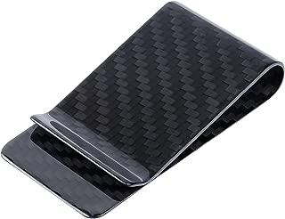 ALSTON Men's Carbon Fiber Matte Money Clip Credit Card Business Card Wallet
