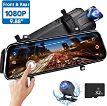 Directtyteam Mirror Dash Cam Backup Camera,1080P HD 9.88