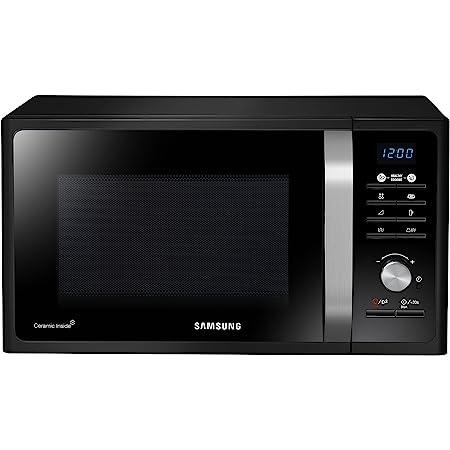 Samsung MG23F301TCK Forno Microonde Grill, Combinato 23 Litri, 800 W, con Piatto Doratore Crusty, Nero
