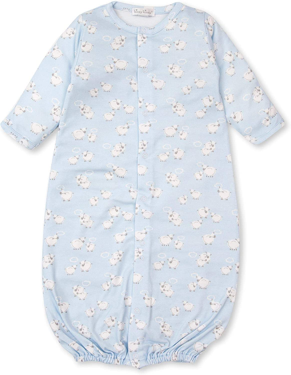 Kissy Kissy Baby-Boys Infant Cuddle Sheep Print Convertible Gown
