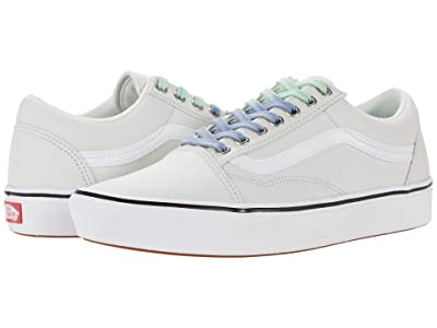 Vans Comfycush Old Skool ((Laced) Barely Blue/True White) Athletic Shoes