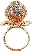 Beaupretty Rose Flower Ring Verstelbare Wrap Open Ring Manchet Cap Ring Creatieve Open Ring Voor Meisjes Vrouw Sieraden (G...