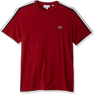 Mens Short Sleeve Jersey Striped Sleeve T-Shirt