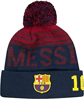 Icon Sports Boys Shade Team Pom Beanie UEFA Champions League Soccer Barcelona, Messi, OSFM