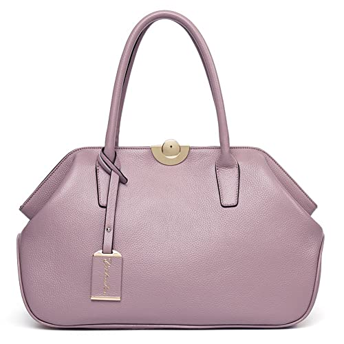 1fee9451ac52 BOSTANTEN Women s Leather Handbags Tote Top-handle Purse Shoulder Bags On  Sale Pink