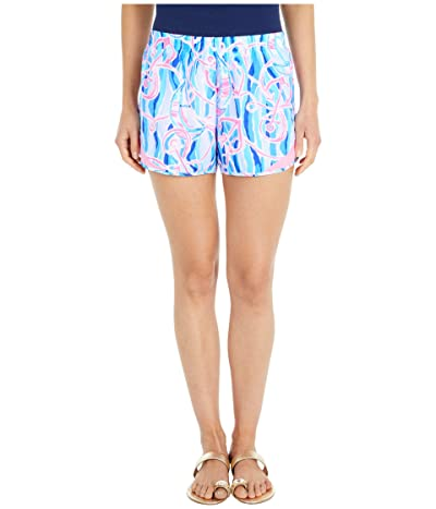 Lilly Pulitzer Ocean Trail Shorts (Skim Blue Reel Nauti) Women