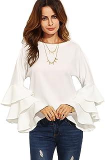 60af6e693d Amazon.com: SheIn - Blouses & Button-Down Shirts / Tops, Tees ...