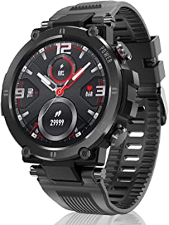 HopoFit Relojes Inteligente Hombre y Mujer,Smartwatch con Pulsómetro,Presión Arterial, Monito de Sueño,Podómetro Pulsera R...