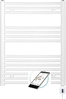 Eléctrico Radiador Toallero 775h X 600b Blanco Recto, con Control de App, Radiador Eléctrico, Elektrobadheizkörper