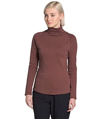 The North Face Explore City Long Sleeve Cotton Turtleneck (Marron Purple) Women