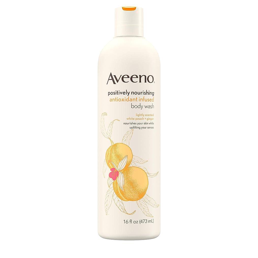 テント分岐する球状Aveeno Positively Nourishing Antioxidant Infused Body Wash, 16 Oz by Aveeno