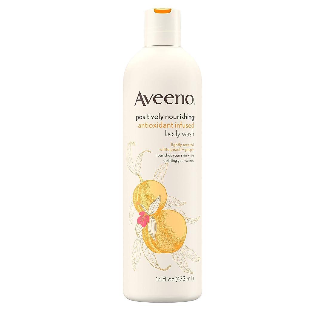 ブロンズおばあさんカスタムAveeno Positively Nourishing Antioxidant Infused Body Wash, 16 Oz by Aveeno