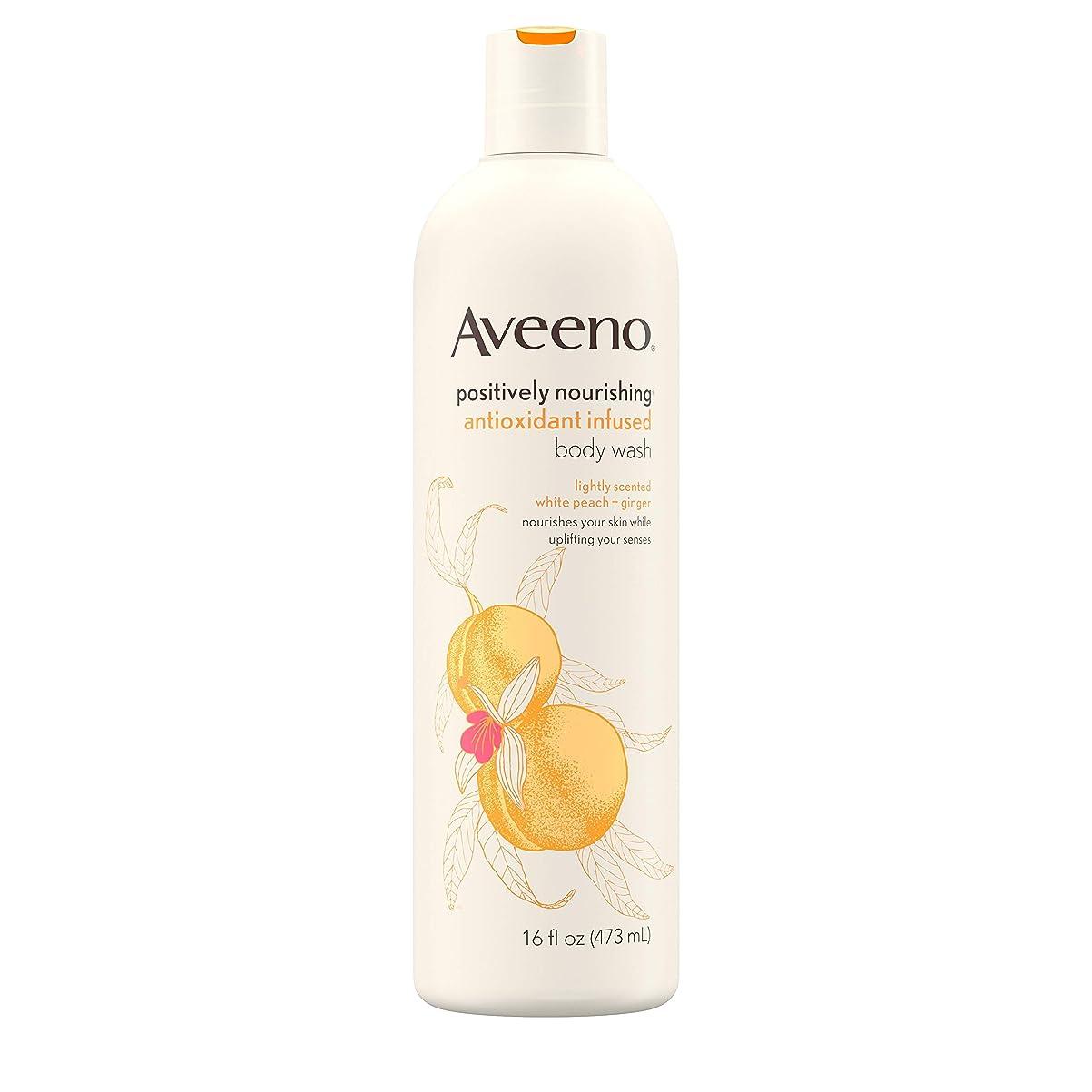 側面メトリック既婚Aveeno Positively Nourishing Antioxidant Infused Body Wash, 16 Oz by Aveeno