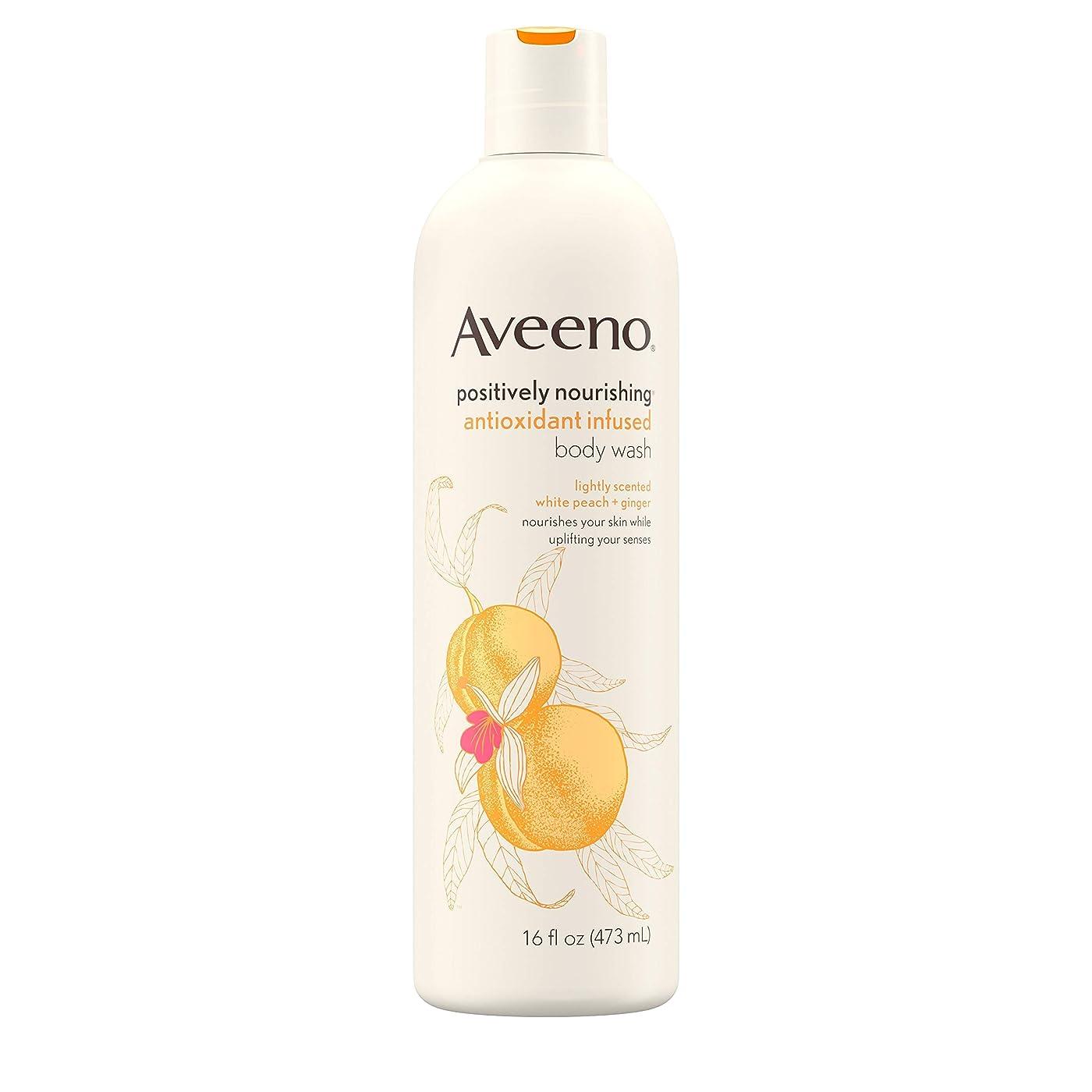 運賃配送腐食するAveeno Positively Nourishing Antioxidant Infused Body Wash, 16 Oz by Aveeno