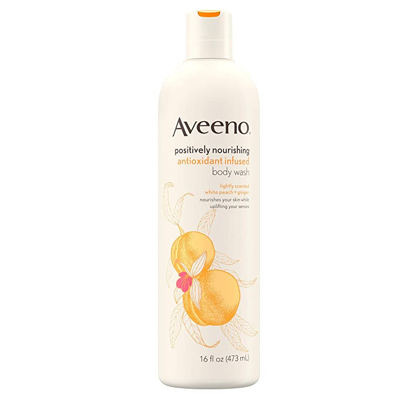パンに応じて継続中Aveeno Positively Nourishing Antioxidant Infused Body Wash, 16 Oz by Aveeno