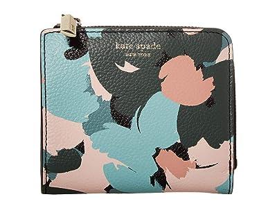 Kate Spade New York Margaux Brush Bloom Small Bifold Wallet (Multi) Wallet