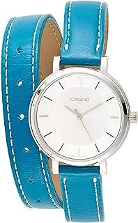 ساعة كوارتز بشاشة انالوج وسوار جلد للنساء من كاسيو